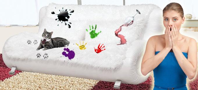 Как очистить грязный диван?